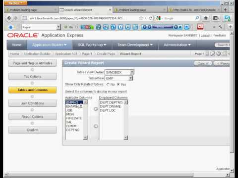 Oracle Application Express 4 Reports - Intermediate