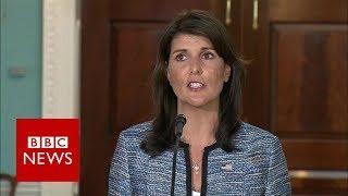 US envoy Nikki Haley says UN rights council