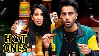 Download Eating Spicy Wings | Hot Ones Challenge (Couples Edition) Video