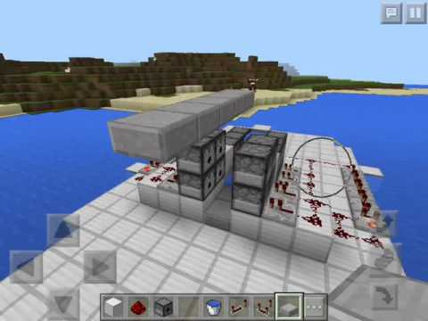 Minecraft PE 0.15.0 // How to make a Shotgun TNT Cannon that fires 40 TNT
