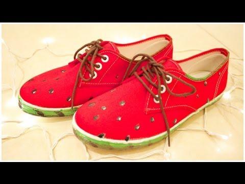 DIY: Watermelon Shoes