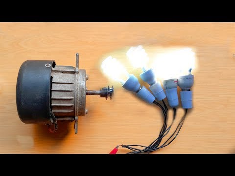 How To Make Free Energy Generator 220V From Washing Machine Motor. DIY Free Energy Generator.
