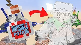 Invisible Potion Challenge in Bed Wars Minecraft / Gamer Chad Plays