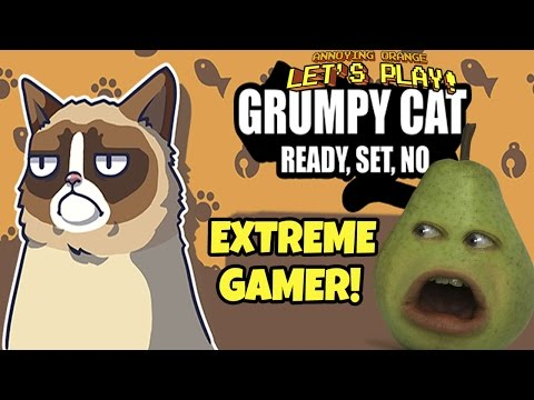 Pear is FORCED to Play - GRUMPY CAT: Ready, Set, No