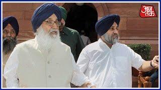 Shoe Thrown At Punjab CM Parkash Singh Badal In Bathinda