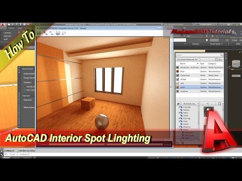 AutoCAD Interior Rendering Spot Lighting Tutorial