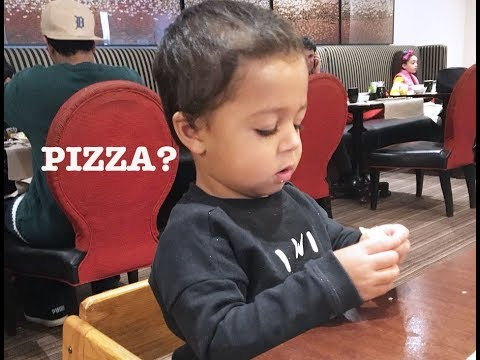 Azlan wants Pizza ! | Funny 1 Year Old .