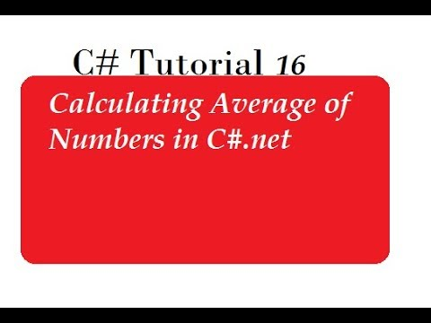 Calculate Average of Numbers in C#