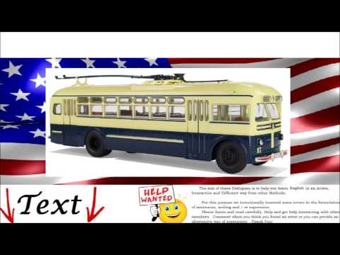 English Dialogue - Public transportation. Bus, Tram, Subway  - Englisch Lernen.  Konversation