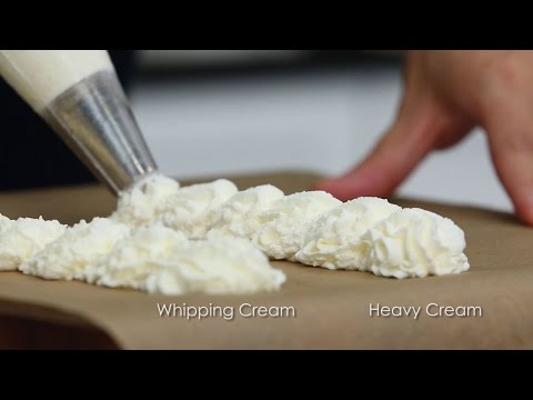 What's the Difference Between Heavy Cream and Whipping Cream?
