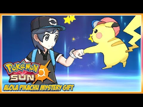 Pokémon Sun and Moon Alola Pikachu Mystery Gift