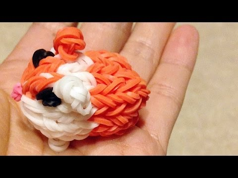 Rainbow Loom Charms: Guinea Pig / Hamster by DIY Mommy