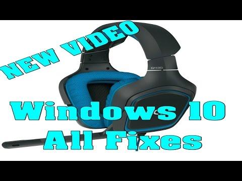 Logitech G430 Windows 10 All Fixes - part I