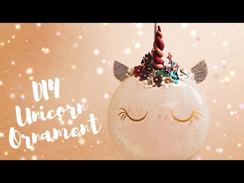 How to Make Unicorn Ornaments | Polymer Horn | DIY Cricut Christmas Decorations