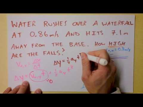 Find Cliff Height   Projectile Motion Worked Example Class 1 Problem   Doc Physics