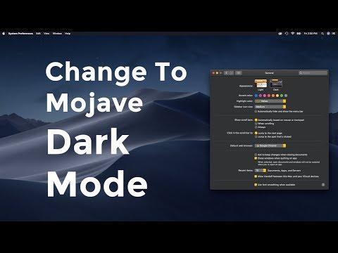How To Change to Dark Mode- MacOS Mojave