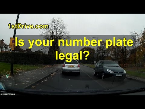 Are your car number plates legal?