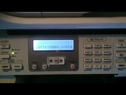 HP officeJet 6500 with missing or damaged or missing pinthead.