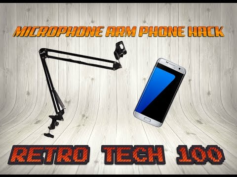 How To Hack Your Microphone Arm To Hold Your Phone