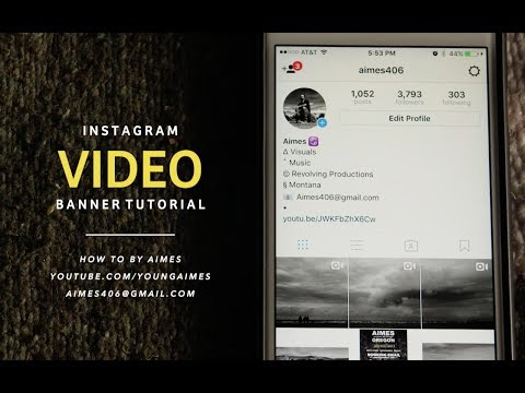Instagram VIDEO Banner/Collage: How To Tutorial