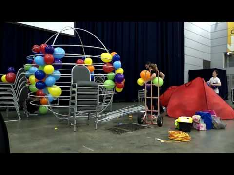 Giant hot air balloon sculpture