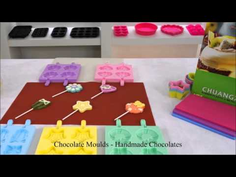 How to make colourful chocolate lollipops with CX silicone molds