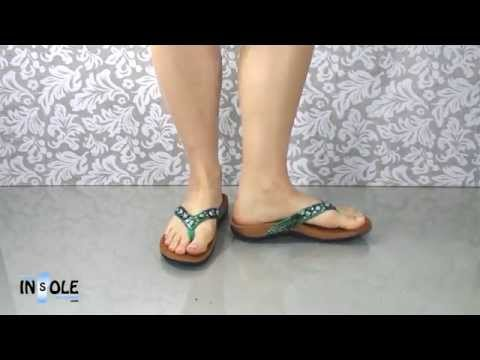 Vionic Orthaheel Snake Floriana Teal Orthotic Sandals @TheInsoleStore.com