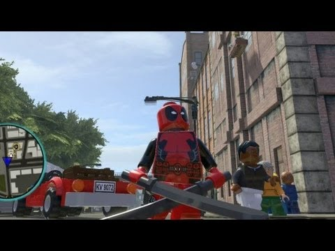 LEGO Marvel Super Heroes (PS4) - Deadpool Free Roam Gameplay