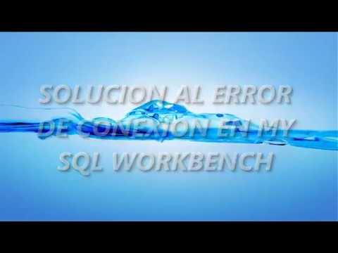 Error de conexion mysql workbench