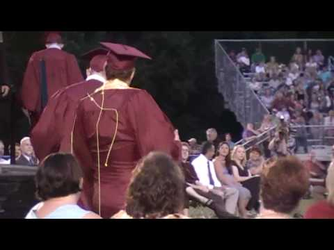 Small town high school graduation in Tennessee