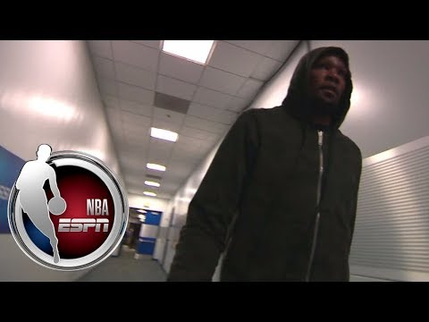 Durant arrives at Oracle Arena ahead of matchup vs. Lakers | NBA on ESPN