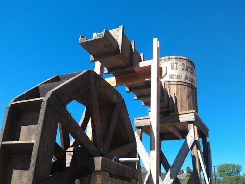 Build An Old West Gold Panning Area - Upper Sluice & Water Wheel