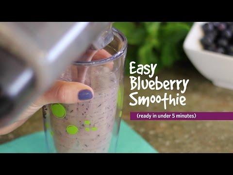 Easy Blueberry Smoothie Recipe