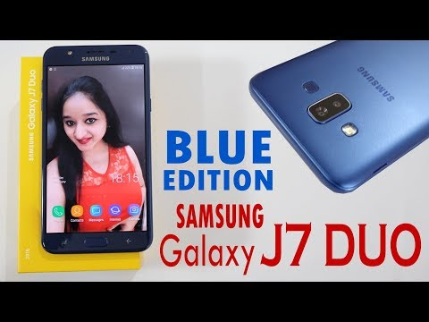 Samsung Galaxy J7 Duo(BLUE EDITION) Unboxing & Overview In HINDI