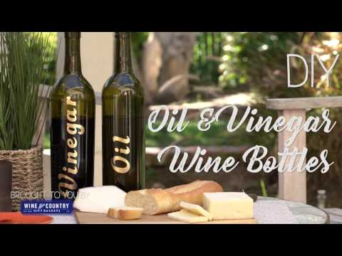 DIY Oil and Vinegar Keepers - Wine Bottle Upcycling