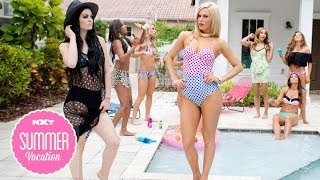 A behind-the-scenes look at NXT Divas Summer Vacation Photo Shoot