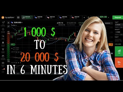 Binary Options 100% ITM strategy with full explanation   from 1000 to 20000 in 6 min live trading on
