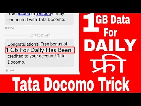 Tata Docomo 1GB Free Internet Daily Apn Trick For All Users Tata Docomo Users