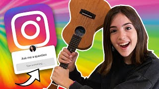 INSTAGRAM FOLLOWERS CONTROL MY QUESTIONS!! (MUSICAL Q&A)