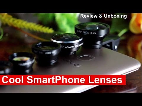 Cool Smartphone & Mini Camera Lenses - Wide Angle | Zoom | Fish Eye | CPL  - Review & Unboxing
