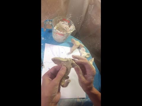 Clay Making Simple Elephant Head