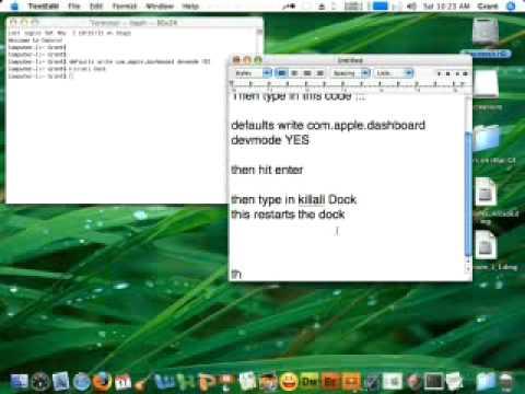 How to put dashboard widgets on the Desktop