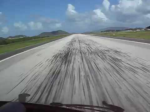 Gulfstream GIV Landing Tortola Beef Island