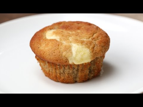 Cream Cheese–Filled Banana Bread Muffins
