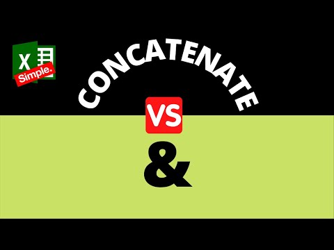 Concatenate Function | Excel Ampersand (&)  - What is the difference?