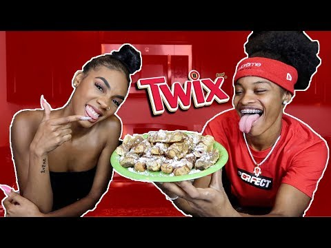 HOW TO MAKE FRIED TWIX!!! FT. KELLIE SWEET!!