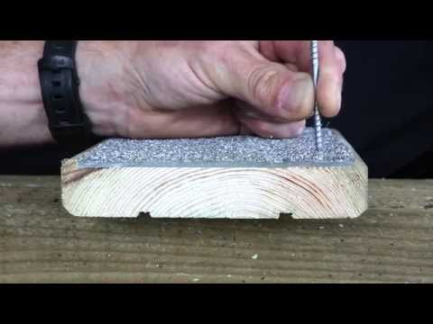 How to screw down your decking boards