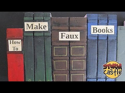 How to make faux bookshelf books