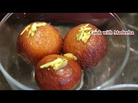 Gulab Jamun recipe - Gulab Jamun Recipe with Khoya or mawa by (cook with Madeeha)