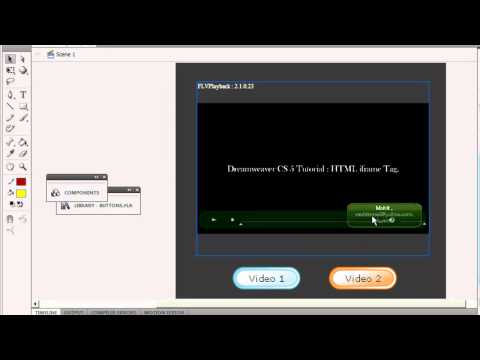 Flash cs5 / 5.5 tutorial :Flash Video Gallery using flv playback component and actionscript 3.0